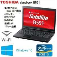 TOSHIBA dynabook B551/C core i3 2310M 2.10GHz 4GB ...