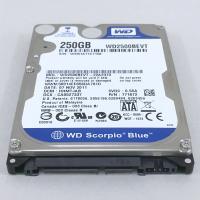 ハードディスク 2.5インチ 9.5mm 250G WD2500BEVT (5400RPM/ATA3...