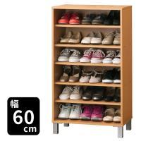 靴は最大18足収納可能。 固定棚2枚・可動棚3枚付なので、靴の高さに合わせて棚の位置を変えることがで...
