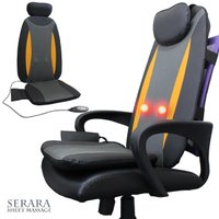 椅子や壁に立てかけて使用できるシートマッサージ器。 2つのもみ玉が回転しながら移動し、背中・腰などを...