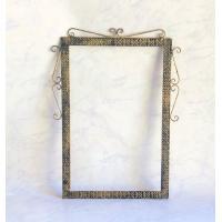 全体サイズH63.5cmW47.5cm 鏡サイズH61cmW36cm  素材:鉄製・ロートアイアン色...