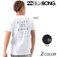 【BILLABONG】ビラボンのメンズ半袖Tシャツ。 大胆にデザインされたバックロゴプリントが、目を...