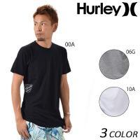 【Hurley】ハーレーのメンズ半袖Tシャツ。 シンプルなボディーに、サイドのロゴがさりげない こな...
