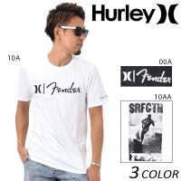 【Hurley】ハーレーのメンズ半袖Tシャツ。 世界的に有名なギターブランド【フェンダー】とのコラボ...