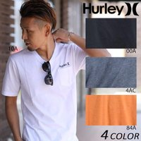 【Hurley】ハーレーのメンズ半袖Tシャツ。 人気の胸ポケット付きVネックタイプ。 ポケットの上に...