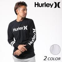 【Hurley】ハーレーのメンズロングスリーブTシャツ。 定番ロゴにトレンドのドロップテール、丈長ス...