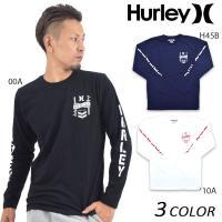 【Hurley】ハーレーのメンズ長袖Tシャツ。 ベーシックなボディーカラーにプリントをきかせ、 クー...