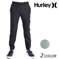 【Hurley】ハーレーのメンズロングパンツ。 軽いテーパードとストレッチの効いた素材感が 脚にメリ...