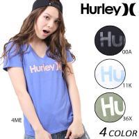 【Hurley】ハーレーのレディース半袖Tシャツ。 毎年大人気!ハーレー定番ロゴT♪ 一枚着はもちろ...