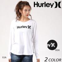 【Hurley】 ハーレーのレディース長袖Tシャツ。 フロントは人気の定番のロゴ、バックはトレンドの...