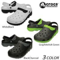 【crocs】クロックスのサンダル。 デュエット マックスは大胆でエネルギッシュな デザインで軽い履...