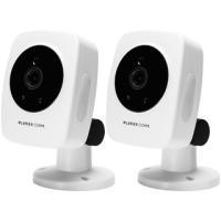 PLANEX/プラネックスコミュニケーションズ  有線/無線LAN対応 フルHDネットワークカメラ スマカメ2 スタンダード CS-QS10 2台同時購入セット