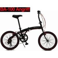【nightsale】 WACHSEN/ヴァクセン  BA-100 20インチアルミフレーム折り畳み自転車6段変速付 Angriff(アングリフ) BK×RD】