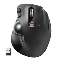 エレコム M-XT3DRBK マウス ワイヤレス ( レシーバー付属 ) トラックボール 6ボタン ブラック
