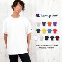 ■チャンピオン(CHAMPION)メンズ半袖Tシャツ  厚めの6.0オンスの重さの生地に、チャンピオ...