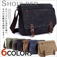 高級感がありながらもスポーティなデザインのキャンバスアウトポケットショルダーバッグです。  丈夫なキ...