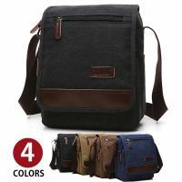 高級感がありながらもスポーティなデザインのキャンバスアウトポケットショルダーバッグです。 丈夫なキャ...