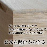 米びつ おしゃれ 無地 5kg  高級 日本製 桐|myhome|03