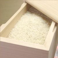米びつ おしゃれ 無地 5kg 1合升すりきり棒付き 日本製 桐製  高級|myhome|03