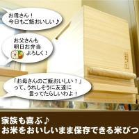 米びつ おしゃれ 一合計量  無地 30kg 日本製 桐 泉州 留河  高級|myhome|03