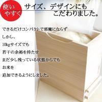 米びつ おしゃれ 一合計量  無地 30kg 日本製 桐 泉州 留河  高級|myhome|08