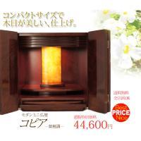 お部屋のインテリアにもあいやすい家具調のミニ仏壇。扉のデザインが立体的で重厚感あふれるリーズナブルな...