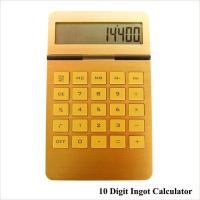 電卓 計算機 おしゃれ ゴールド カリキュレーター 10 Digit Ingot Calculator