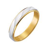 つや消しベースのリングをスパイラル調にカットした上品な18金の指輪です。両端の光沢ラインが全体を引き...