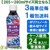 ポリフェノールがしっかり摂れる「ブルーベリー」の果汁ドリンクです。  リニューアル前は[アサイーMI...