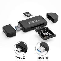 USB3.0 Type-C SDカードリーダー マルチカードリーダー 写真 動画 音楽 データ移行 Micro SD SDカード タイプC PC Macbook Samsung Android タブレット対応