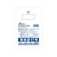 ●ポリ袋 規格袋11号 ●色:透明 ●厚み0.03mm ヨコ幅20cm タテ幅30cm ●材質:LD...