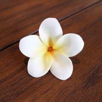プルメリアの造花 8個入り フェイクフラワー ホワイト