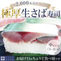 [冷蔵]分厚い!これが刺身同然・ 福井の生さば寿司【中サイズ】これこそ鯖寿司!寒流・日本海産のサバは一味違います!