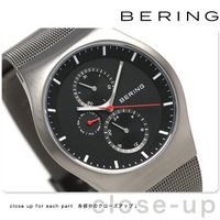 ベーリング クラシック コレクション カービング メッシュ 42mm クオーツ メンズ 腕時計 11...