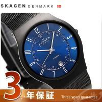3年保証キャンペーン スカーゲン チタニウム 37mm クオーツ メンズ 腕時計 233XLTMN ...