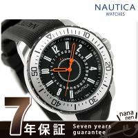 正規品 7年保証キャンペーン ノーティカ 腕時計 NST 15 デイト メンズ ブラック×オレンジ ...