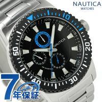 正規品 7年保証キャンペーン ノーティカ 腕時計 NST 16 マルチファンクション メンズ ブラッ...