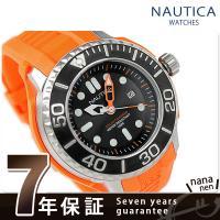 正規品 7年保証キャンペーン ノーティカ 腕時計 ソーラー NMX 1000 メンズ ブラック×オレ...