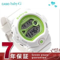 7年保証キャンペーン カシオ babyg ランニングウォッチ 腕時計 レディース ライムグリーン×ホ...