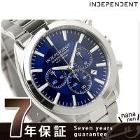正規品 7年保証キャンペーン 送料無料 インディペンデント 腕時計 メンズ クロノグラフ ブルー I...