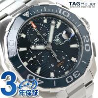 タグ・ホイヤー アクアレーサー 43mm クロノグラフ 自動巻き メンズ 腕時計 CAY211B-B...