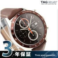 タグホイヤー 腕時計 メンズ 自動巻き キャリバー16 カレラ 41MM クロノグラフ ブラウン レ...