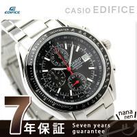 7年保証キャンペーン カシオ エディフィス 腕時計 クロノグラフ ブラック CASIO EDIFIC...