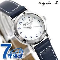 agnes b.(アニエスベー)アニエスb レディース 腕時計 ソーラー アラビア ネイビー FBS...