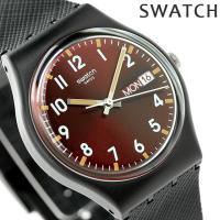 スウォッチ オリジナル ジェント サー・レッド クオーツ ユニセックス 腕時計 GB753 swat...