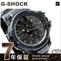7年保証キャンペーン Gショック スカイコックピット 電波ソーラー 腕時計 メンズ ブラック×ネイビ...