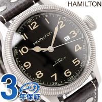 7年保証キャンペーン ハミルトン 腕時計 カーキ パイオニア 自動巻き メンズ ブラック カーフレザ...