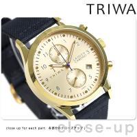 トリワ ランセン クロノ ゴールド 38mm クロノグラフ ユニセックス 腕時計 LCST103-C...