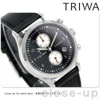 トリワ ランセン クロノ レイブン 38mm クロノグラフ ユニセックス 腕時計 LCST114-S...