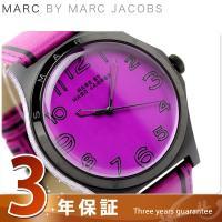 3年保証キャンペーン マーク バイ マーク ジェイコブス ヘンリー トロンプ 時計 パープル×ブラッ...